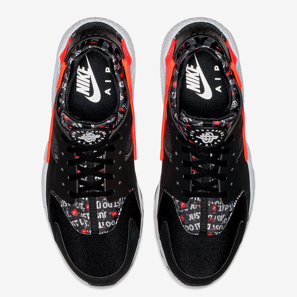191cbe46f5c Nike Air Huarache AVAILABLE AT Foot Locker  120. Color  Black Total  Orange-White Style Code  AT5017-001