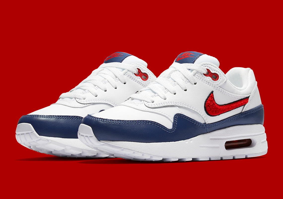 new style 2c082 3e457 Chenille Swoosh Logos Arrive On The Nike Air Max 1 For Kids