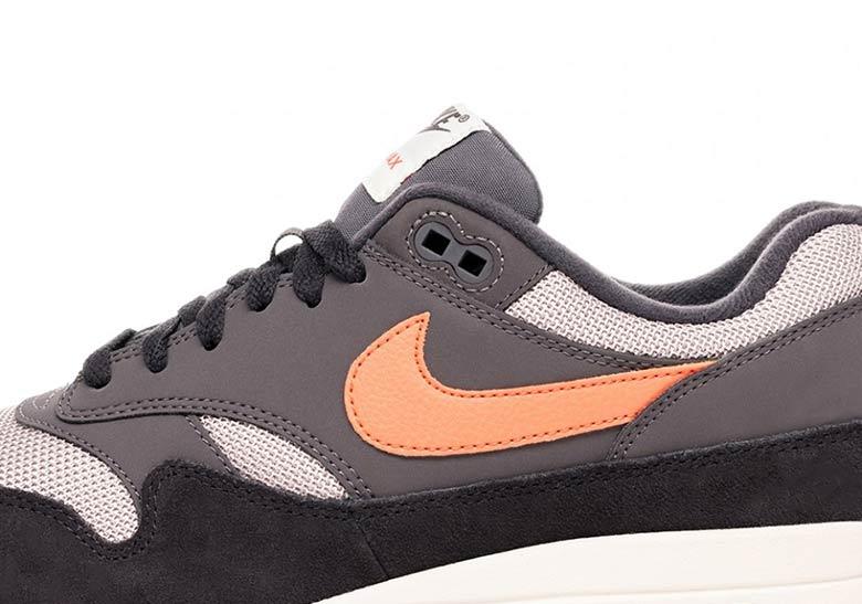 new style 00b40 2d46c Nike Air Max 1 GreyOrange AH8145-004 Available Now  SneakerN