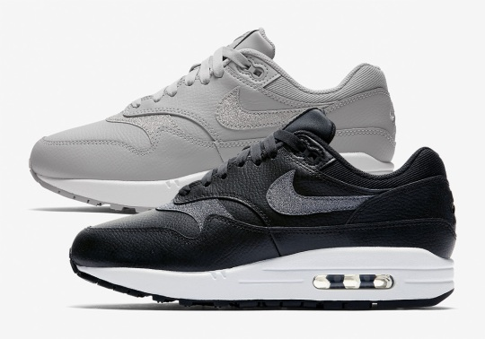The Nike Air Max 1 Premium Arrives In Grey And Black Leathers