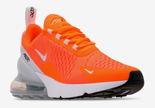 "Nike Air Max 270 ""Total Orange"" Is Releasing For Women"