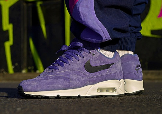 The Nike Air Max 90/1 Is Coming Soon In Purple Suede