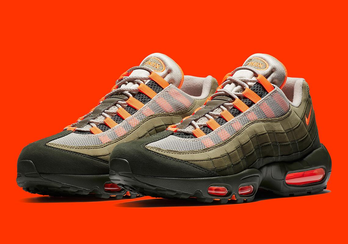 Nike Air Max 95 OG String Total Orange Neutral Olive ...