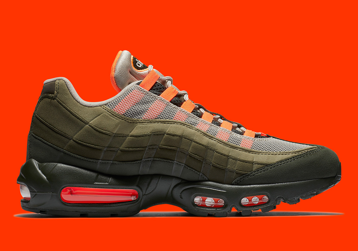 wholesale dealer 3bd40 f4d95 Nike Air Max 95 OG Release Date  August 16th, 2018  160. Color  String Total  Orange-Neutral Olive Style Code  AT2865-200. Advertisement