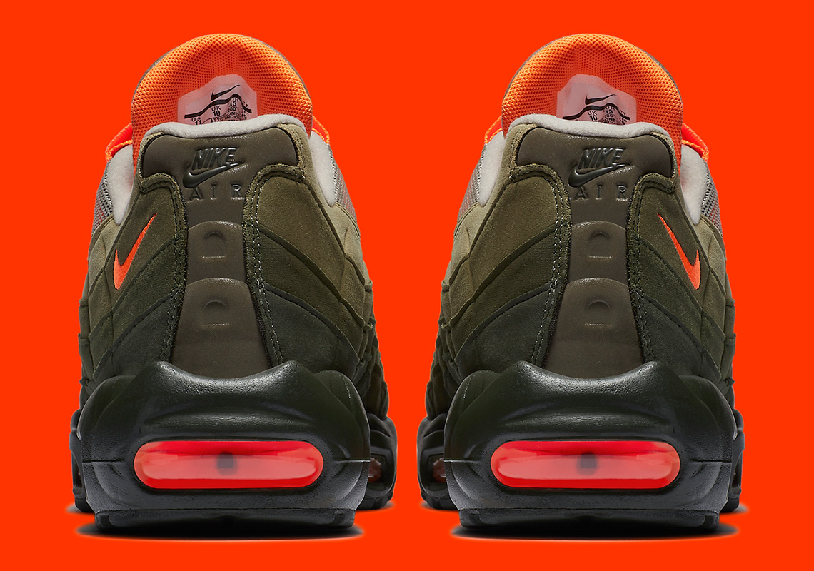 0cfc54aa4d Nike Air Max 95 OG Release Date: August 16th, 2018 $160. Color: String/Total  Orange-Neutral Olive Style Code: AT2865-200. Advertisement. Advertisement