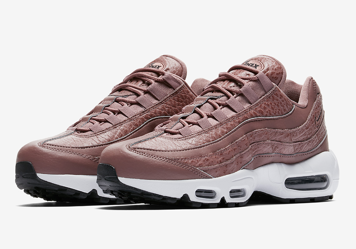 4ba3480d0ee6 Tumbled Leather Galore On This Nike Air Max 95 For Women
