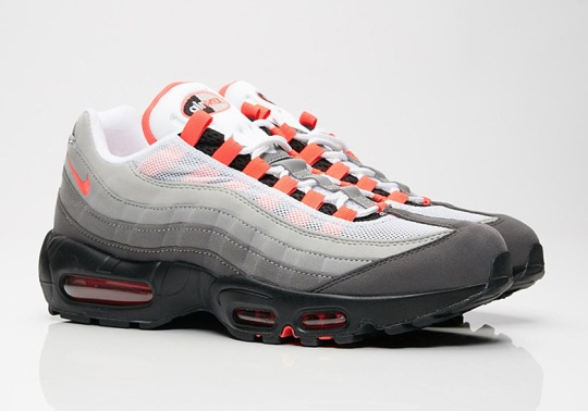 "Where To Buy: Nike Air Max 95 OG ""Solar Red"""
