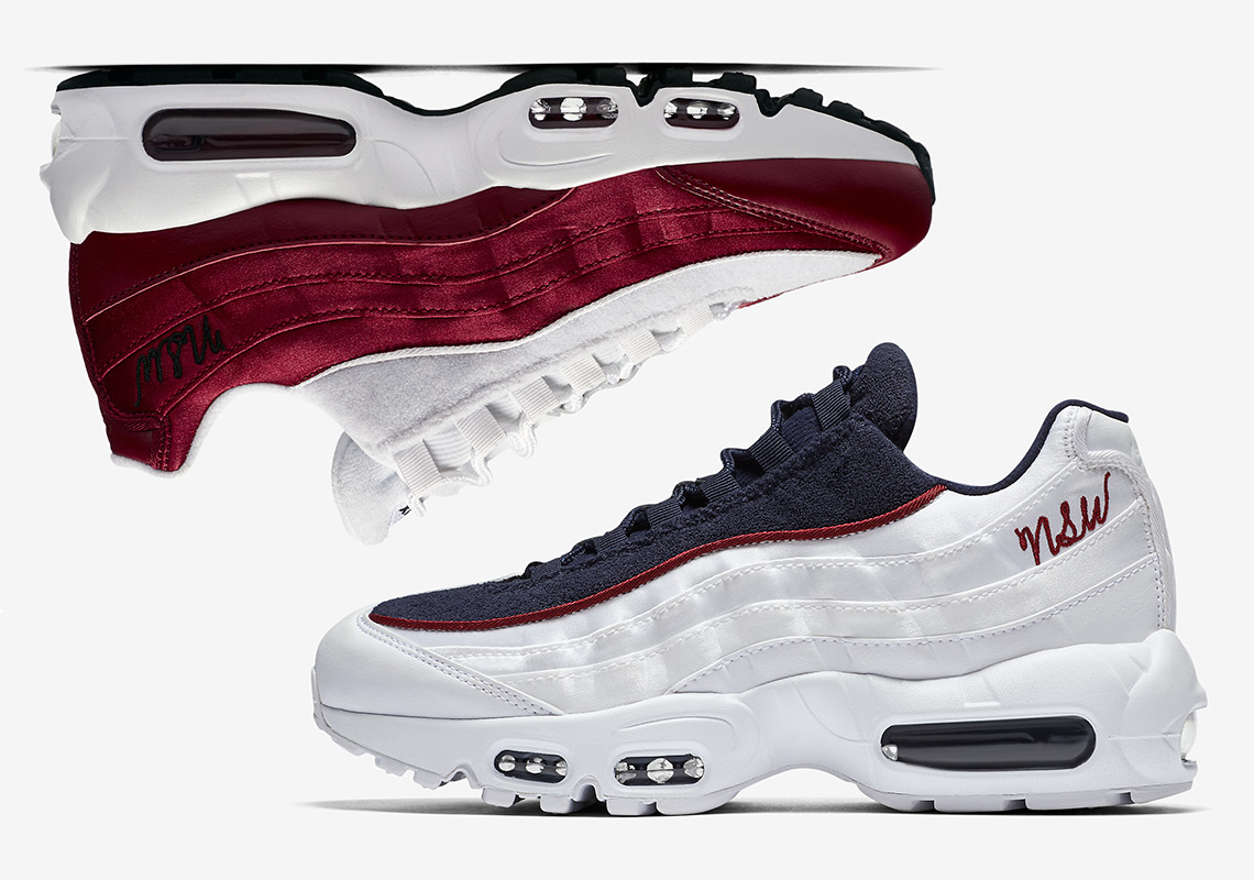 huge selection of b8bad cac55 Nike Air Max 95 Womens Satin + Terry Cloth Available Now ...