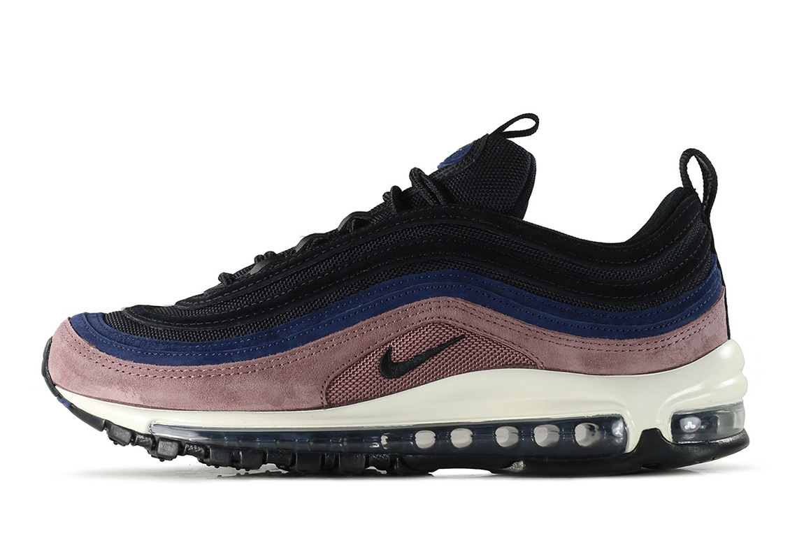 Nike Air Max 97 $160. Color: Smokey Mauve/Black-Midnight Navy-Sail