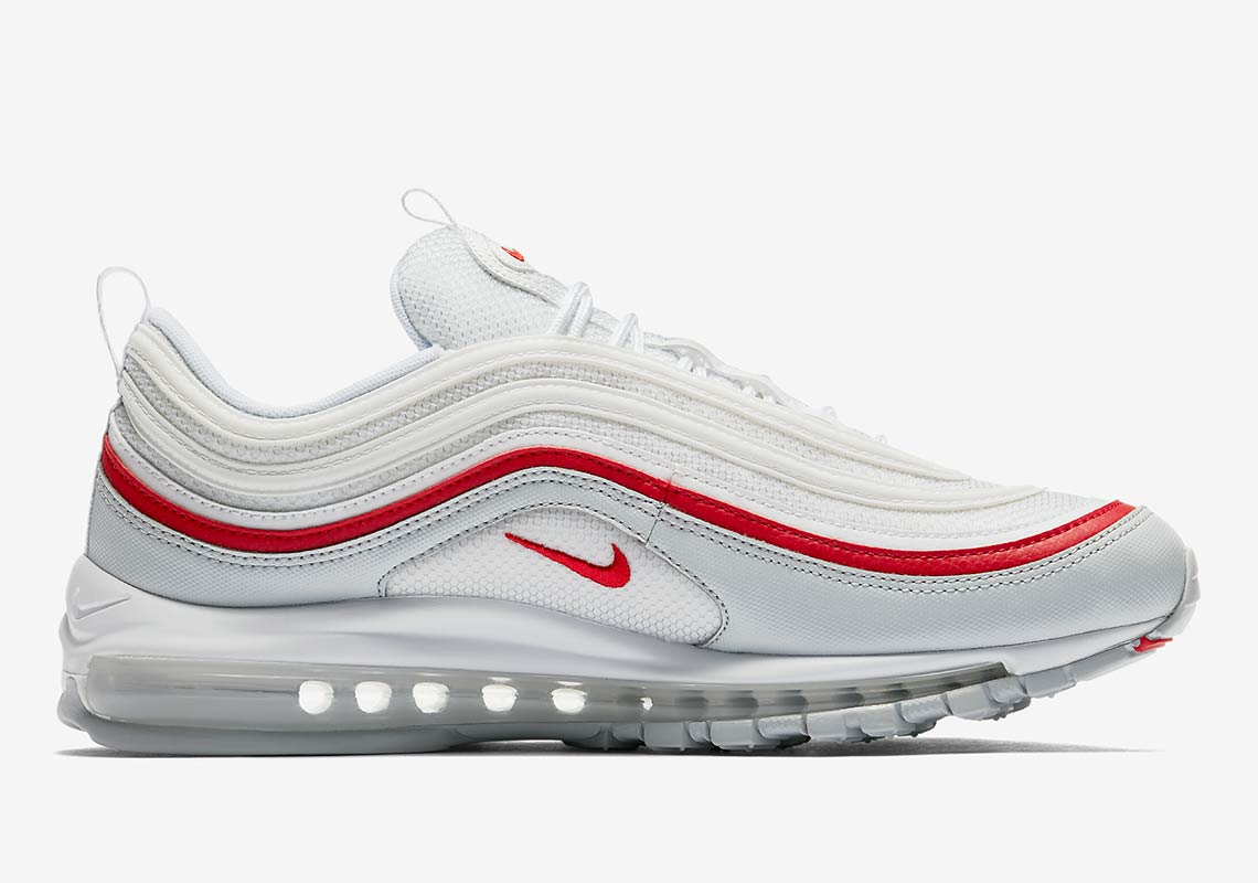 check out 1c66f 5f138 Nike Air Max 97 White + Red AR5531-002 Release Info   SneakerNews.com
