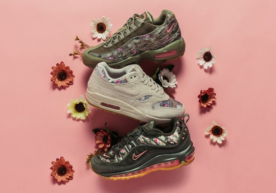 Nike's Pairing Of Camo And Floral Prints Arrives On Three Air Max Models For Women