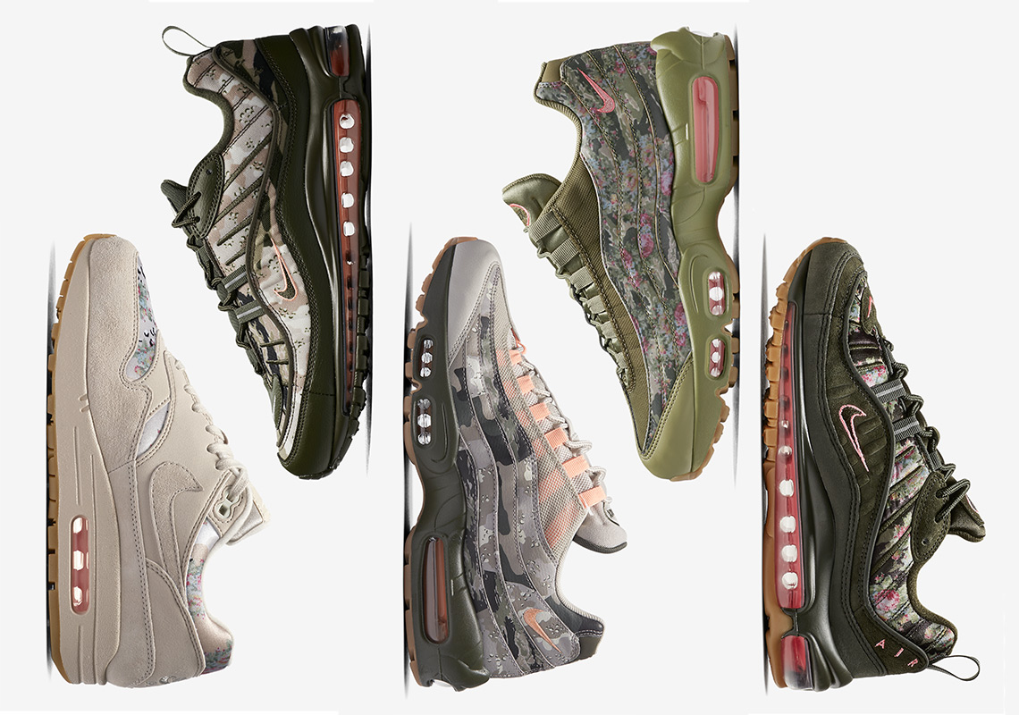 "73d9fd1e6d8098 Nike Air Max ""Floral And Camo"" Collection Releases This Saturday"