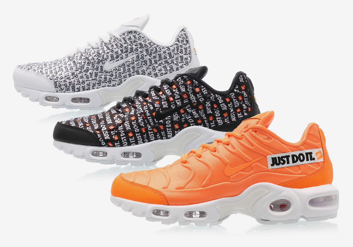 "7dea0942c86 The Nike Air Max Plus ""Just Do It"" Pack Is Dropping Next Week"
