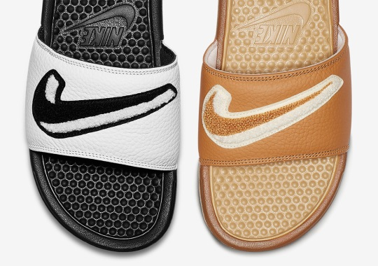 Nike Adds Chenille Swooshes To The Benassi Slide