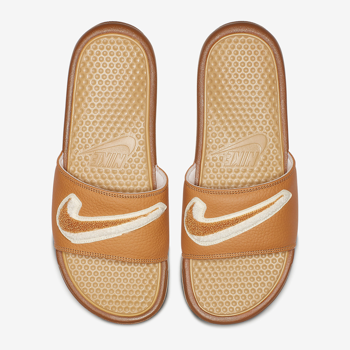 reputable site 91e9b c6ff9 Nike Benassi JDI Available Now on Nike.com  45. Color  Muted Bronze Light  Cream Light Bone Club Gold Style Code  AO2805-200