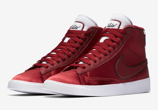 "The Nike Blazer Mid ""Satin"" Features Varsity Jacket Detailing"
