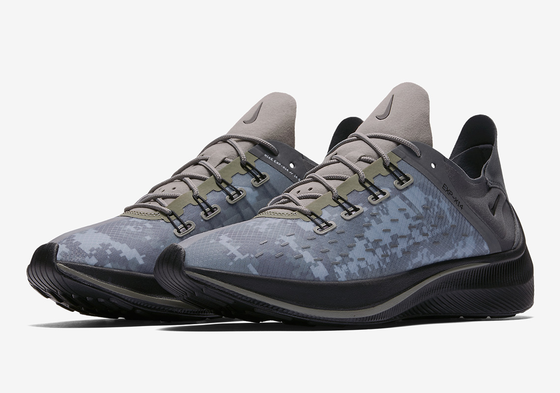 newest 81784 c949d The Nike EXP-X14 Arrives In Military-Themed Dark Stucco