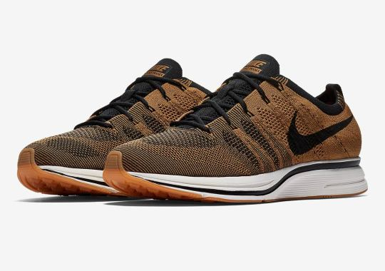 "A ""Golden Beige"" Comes To The Nike Flyknit Trainer"