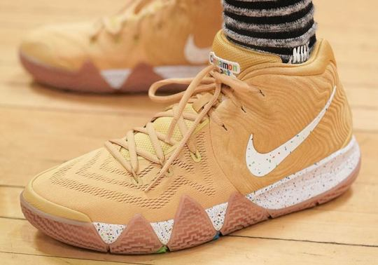 "Up Close With The Nike Kyrie 4 ""Cinnamon Toast Crunch"""