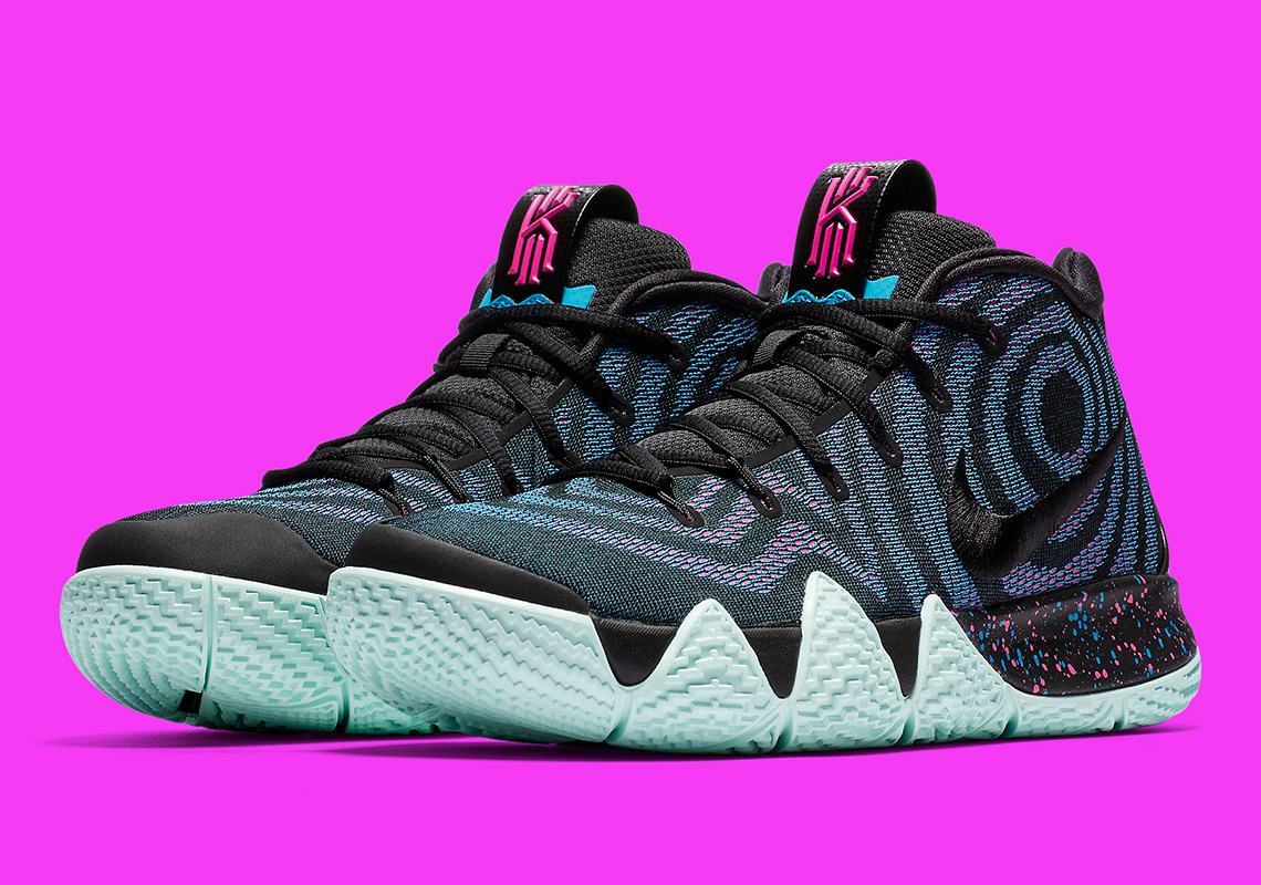 competitive price ec3ec 8ddc0 Nike Kyrie 4 Black Laser Fuchsia 943806-007 | SneakerNews.com
