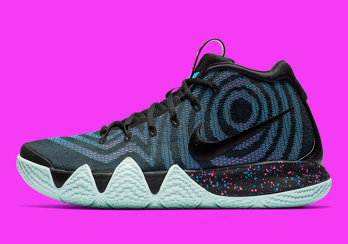competitive price 3a1d7 87b1b Nike Kyrie 4 Black Laser Fuchsia 943806-007 | SneakerNews.com