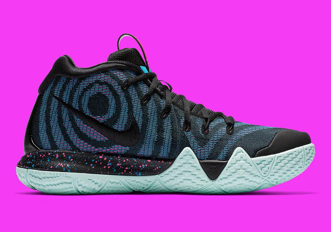 85e42a42f3e2 Nike Kyrie 4 Black Laser Fuchsia 943806-007