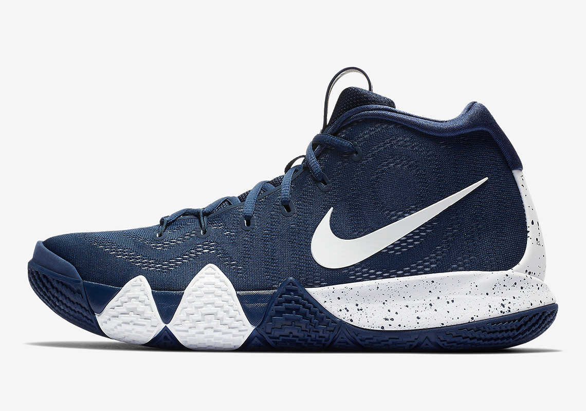 sports shoes ef559 7f70d Nike Kyrie 4 Navy White | SneakerNews.com