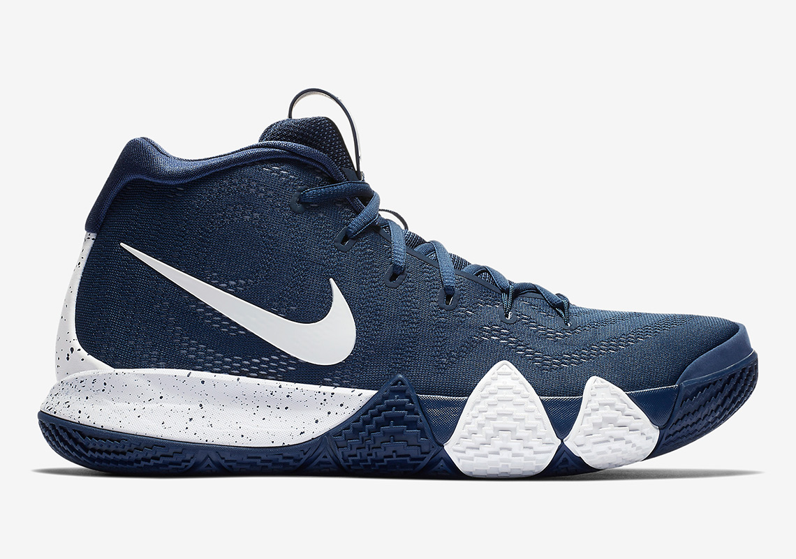 sports shoes 8284c 18d27 Nike Kyrie 4 Navy White | SneakerNews.com