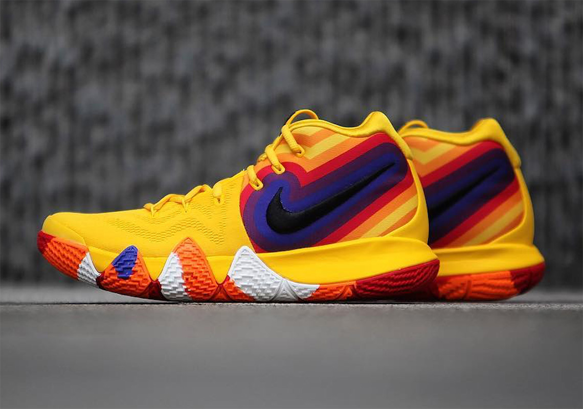 premium selection d87eb 3847c Nike Kyrie 4 Orange/Red/Yellow Retro Photos | SneakerNews.com