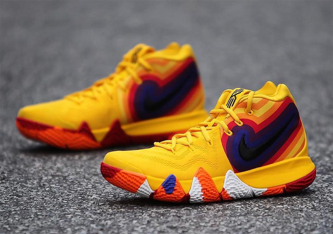 Yellow And Purple Nike Shoes