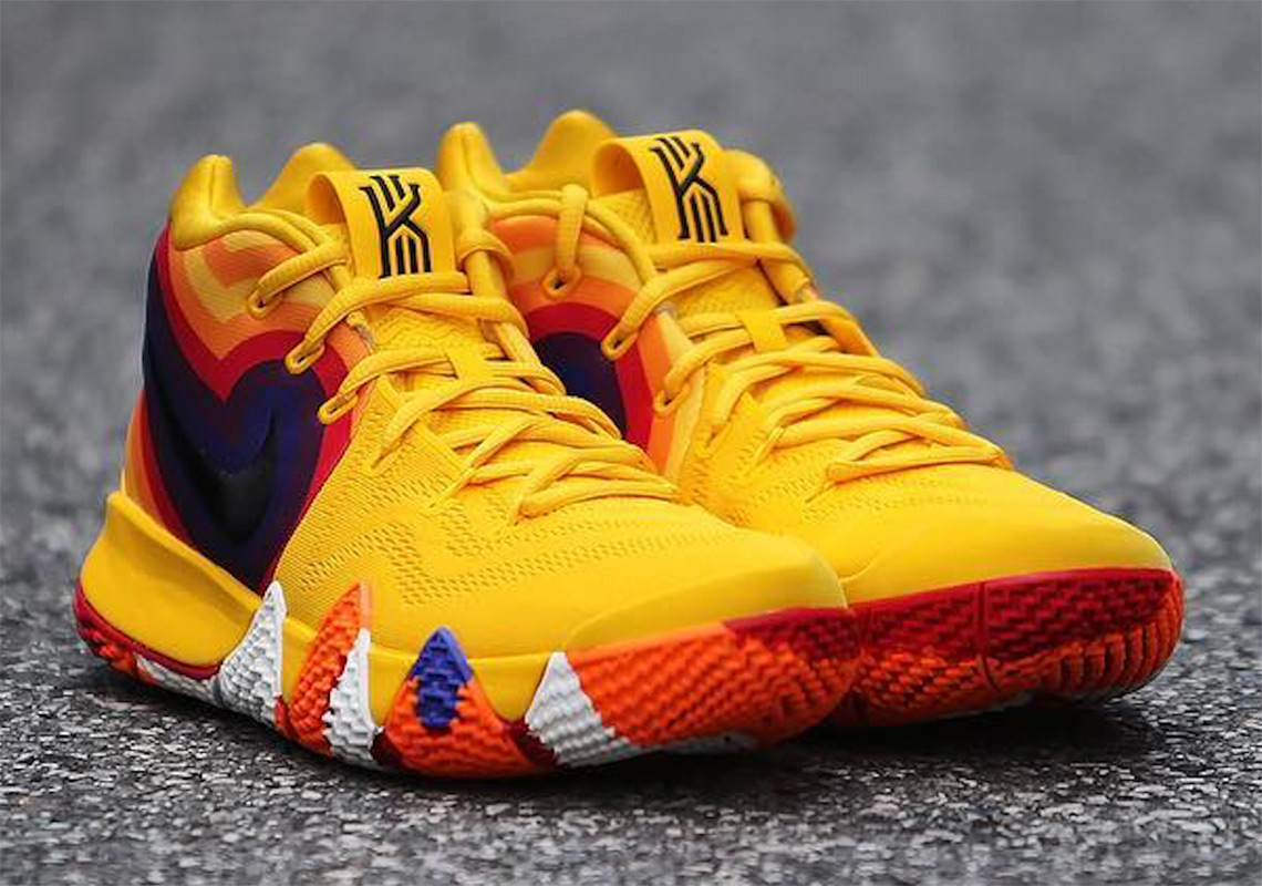 a1767f55f300 Nike Kyrie 4 Orange Red Yellow Retro Photos