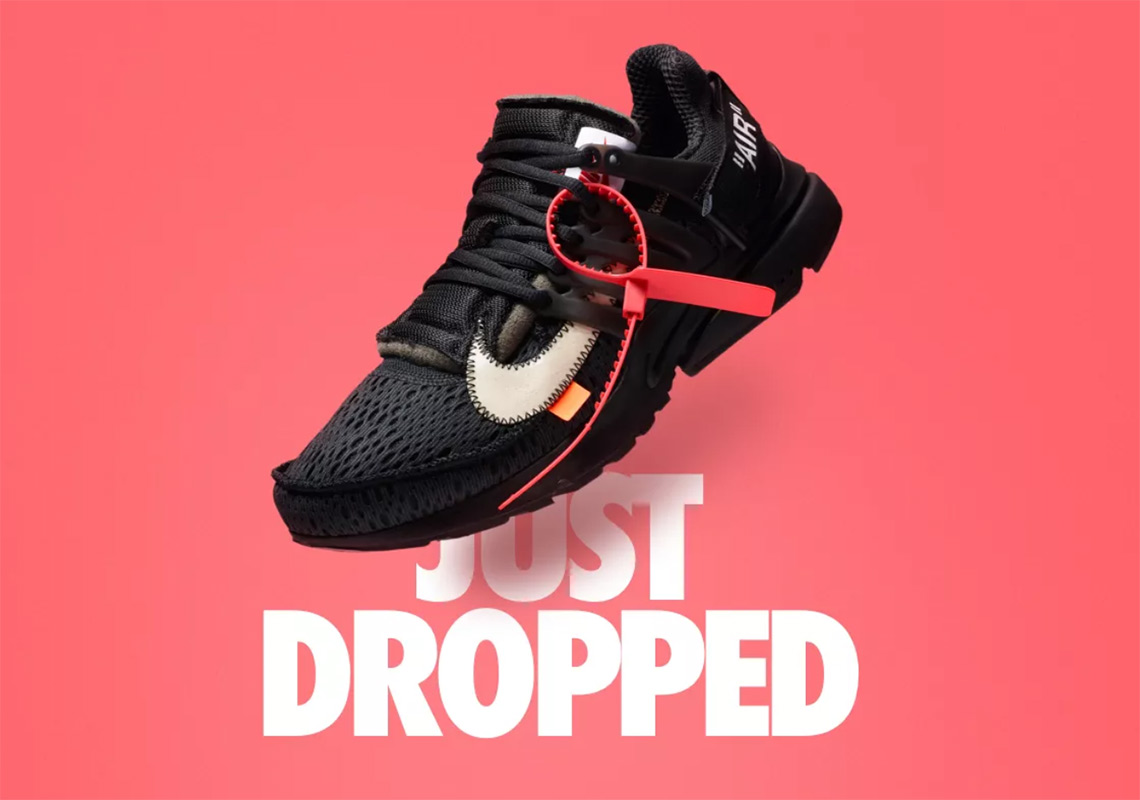 sports shoes 39426 545e3 Off-White x Nike Presto Surprise Drop On Nike SNKRS