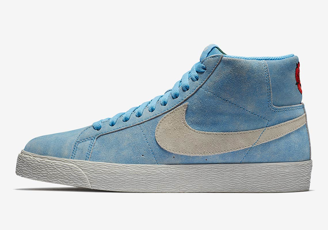 "size 40 73f68 71064 Nike SB Zoom Blazer Mid ""Lance Mountain"" Release Date July 10, 2018.  AVAILABLE SOON AT Nike 85. Color University BlueLight Bone Style Code  864349-406"