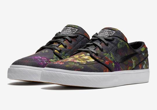 A Bold Floral Print Comes To The Nike SB Janoski