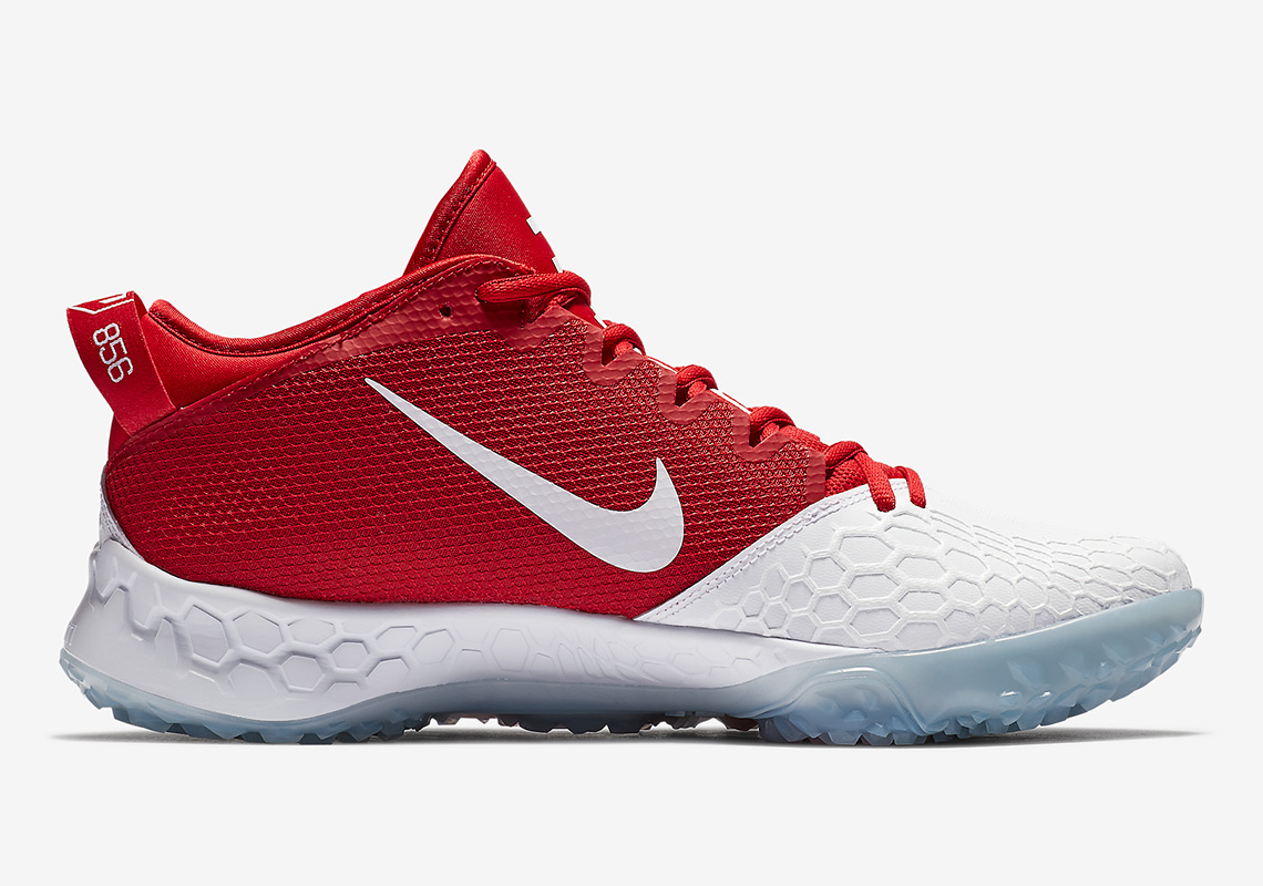 081c1592134 Nike Force Zoom Trout 5 Turf AVAILABLE AT Nike  120. Color   White White University Red University Red