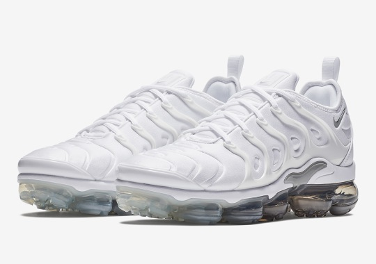 ... promotions 3b497 a5618 Nike Vapormax Plus In White And Wolf Grey Just  Released ...