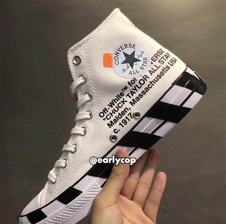 sale online better price official sale Off-White Converse Chuck Taylor Diagonal Stripes ...