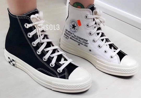 New Images Of The Off-White x Converse Chuck Taylor In Black And White Emerge