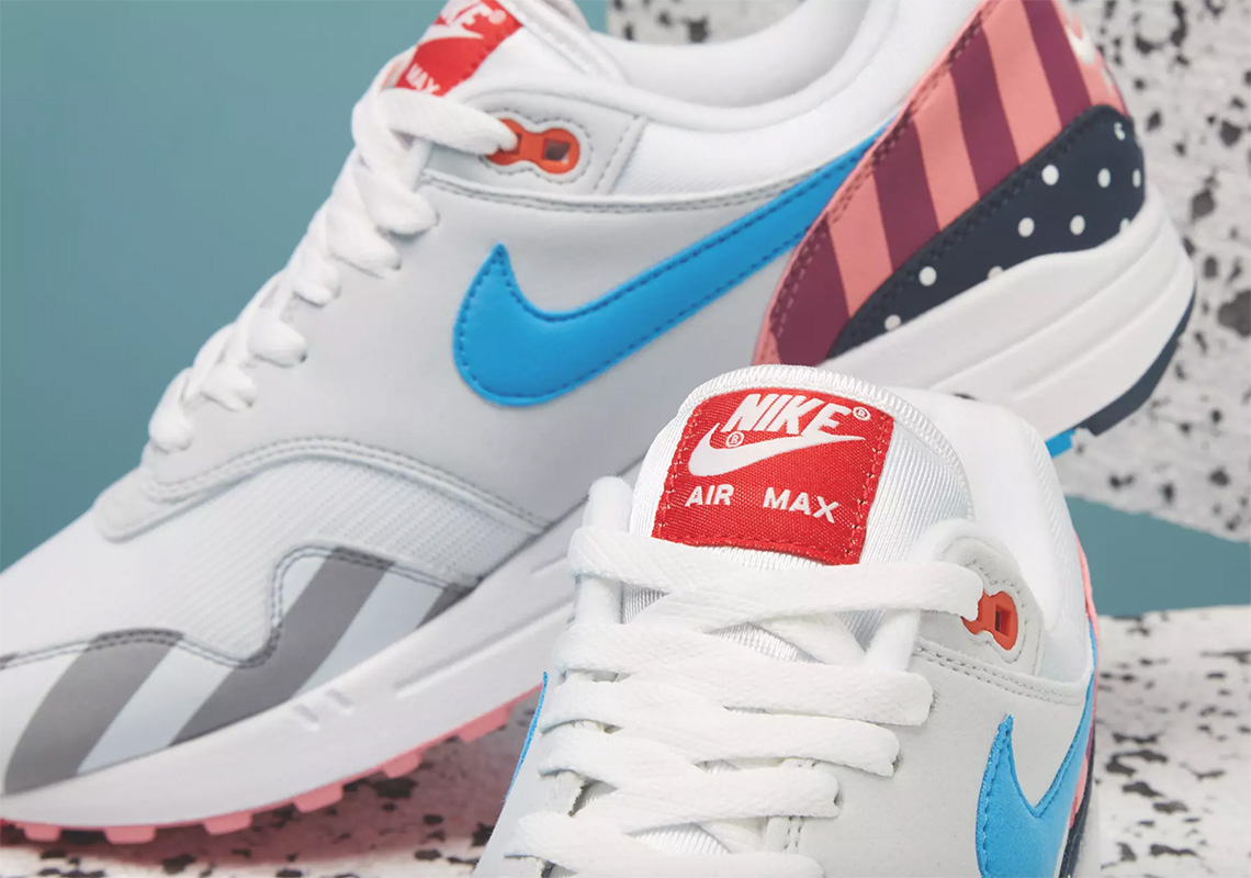 timeless design c8d51 5a4c8 Where To Buy The Parra x Nike Air Max 1 + Spiridon ...