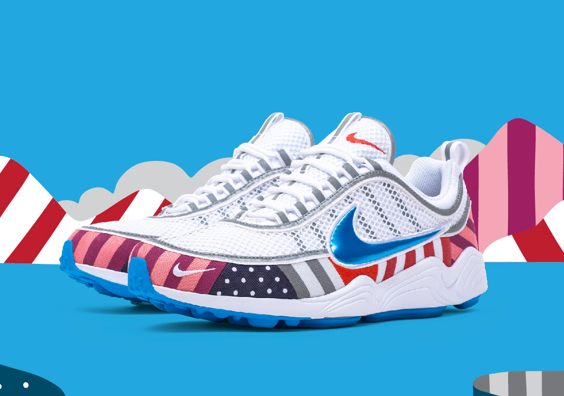 a3c872fc6c Parra x Nike Air Max 1. Release Date: July 21st, 2018. Coming Soon to Nike  SNKRS $150. Color: White/Pure Platinum