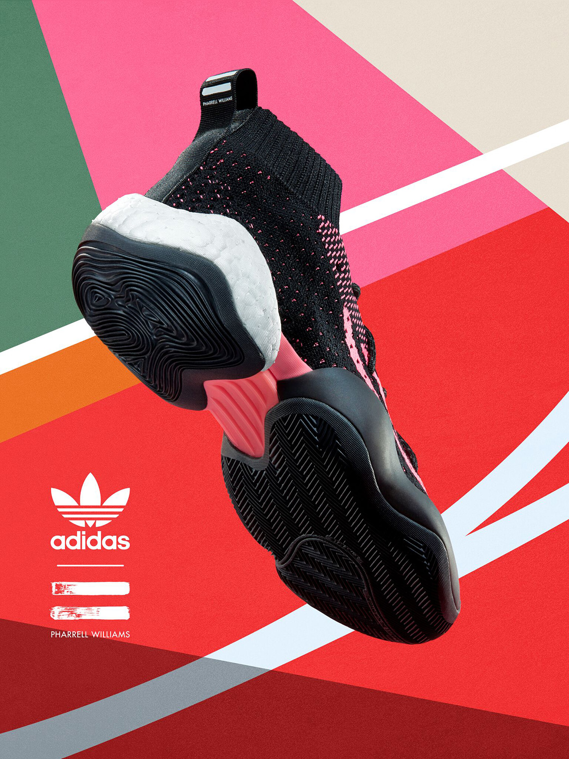 43f1447091d Pharrell x adidas Crazy BYW LVL X Release Date  July 13th 2018. COMING SOON  TO adidas  250. Color  Black Footwear White-Solar Pink Style Code  G28182.  show ...