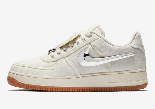 Travis Scott x Nike Air Force 1 In Sail Releases On August 10th