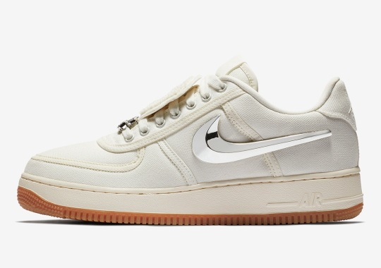 reputable site 8d2ba 1c307 Travis Scott x Nike Air Force 1 In Sail Releases On August 10th