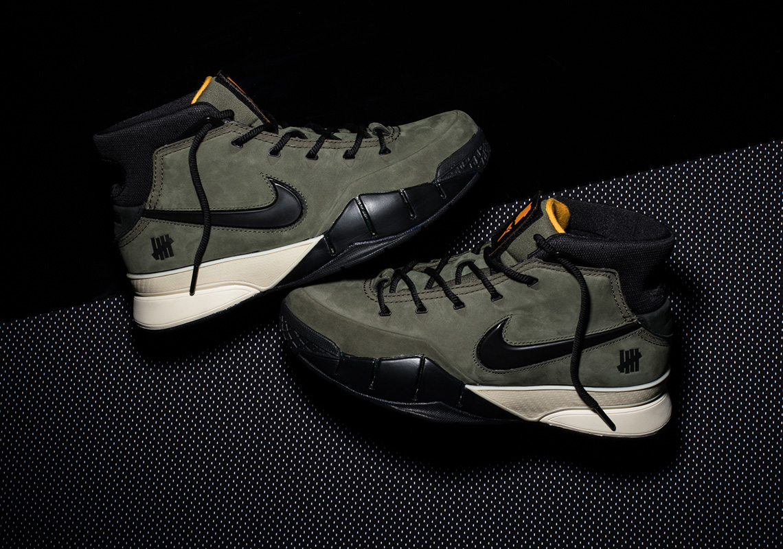 f0275601f27 UNDEFEATED Nike Zoom Kobe 1 Protro Olive Flight Jacket | SneakerNews.com
