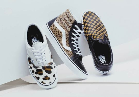 "Animal Prints Arrive On The Vans ""Calf Hair"" Pack"