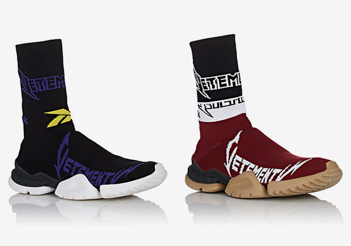 a01107bd81f2 VETEMENTS Reebok Sock Runner Four Colorways Available Now