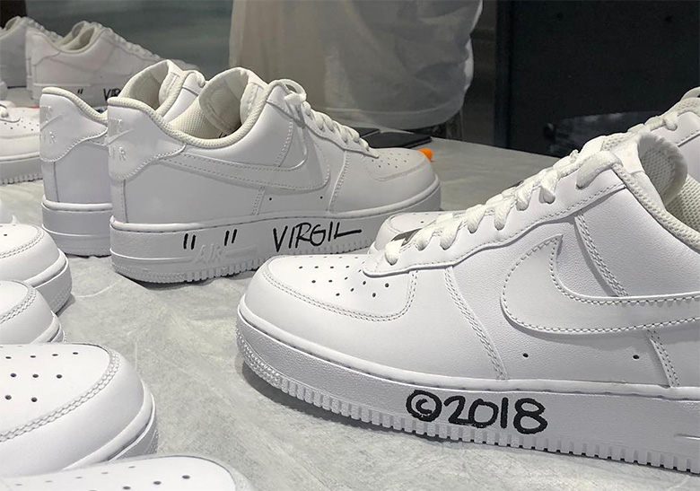 94e9fb1019b26c Virgil Abloh SSENSE Air Force 1 Customs
