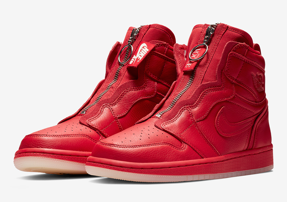 32e98a6886b3f3 Official Images Of The Anna Wintour x Air Jordan 1 High Zip In Red
