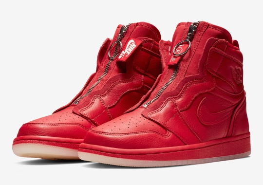 Official Images Of The Anna Wintour x Air Jordan 1 High Zip In Red