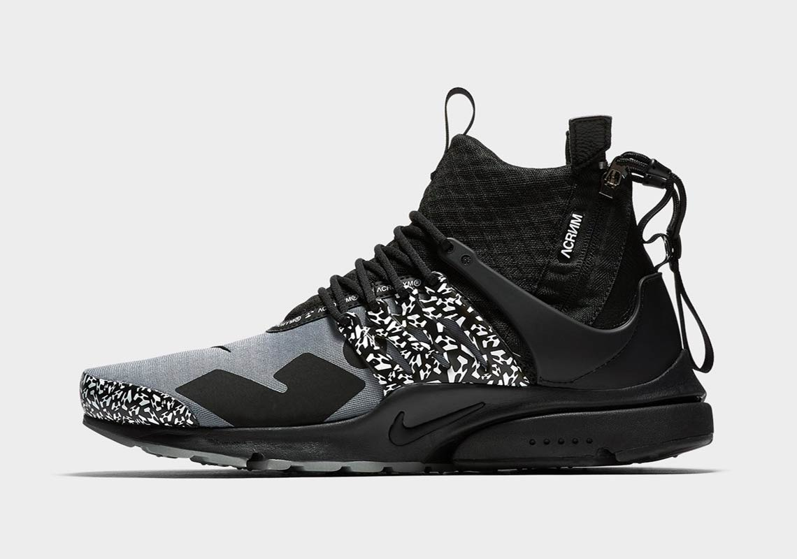 separation shoes 70f59 d92e6 ACRONYM x Nike Air Presto Mid Release Date September 20, 2018 200. Color  Cool GreyBlack